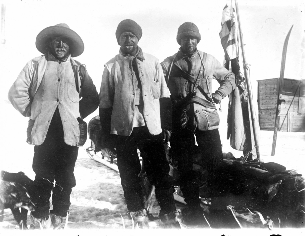 From left, Ernest Shackleton, Robert Falcon Scott and Edward Wilson.